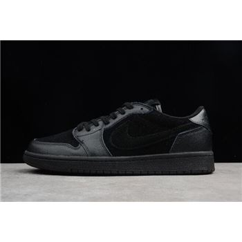 Air Jordan 1 Retro Low OG Premium Triple Black Black/Black-Black 919701-010