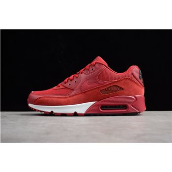 Nike Air Max 90 Essential Gym Red/Black-White 537384-604 Men's Shoes