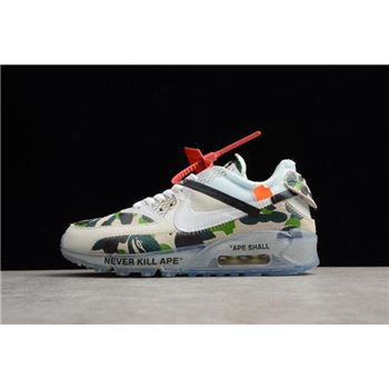 Off White x Nike Air Max 90 Camo Sail/White-Muslin Men's and Women's Size AA7293-101