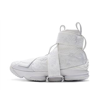 fc846c125c0 KITH x Nike LeBron 15 Lifestyle City of Angels Triple White Men s  Basketball Shoes