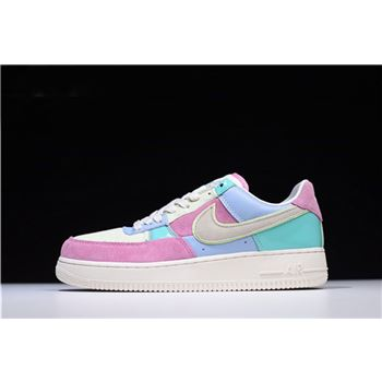 Men's and Women's Nike Air Force 1 Low Easter Egg Ice Blue/Sail-Hyper Turquoise-Barely Volt AH8462-400